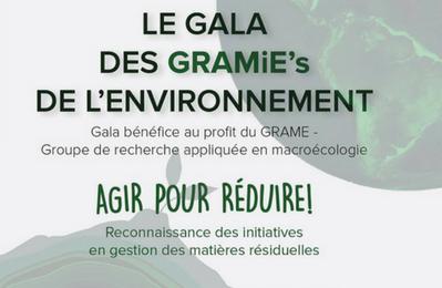 Les GRAMiE's de l'environnement 2018 : Agir pour réduire!