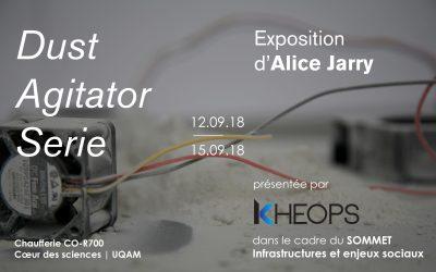 Catalogue de l'exposition DUST AGITATOR SERIE présentée par KHEOPS dans le cadre du Sommet : infrastructures et enjeux sociaux