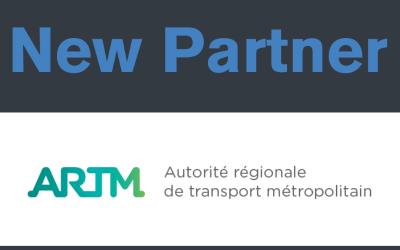 WELCOME TO OUR NEW PARTNER : L'AUTORITÉ RÉGIONALE DE TRANSPORT MÉTROPOLITAIN (ARTM)