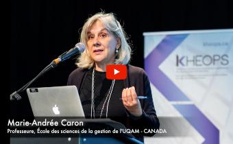 Dans le cadre de la série de vidéos «Regard sur la recherche», entretien avec Marie-Andrée Caron, professeure à l'École des sciences de la gestion de l'UQAM