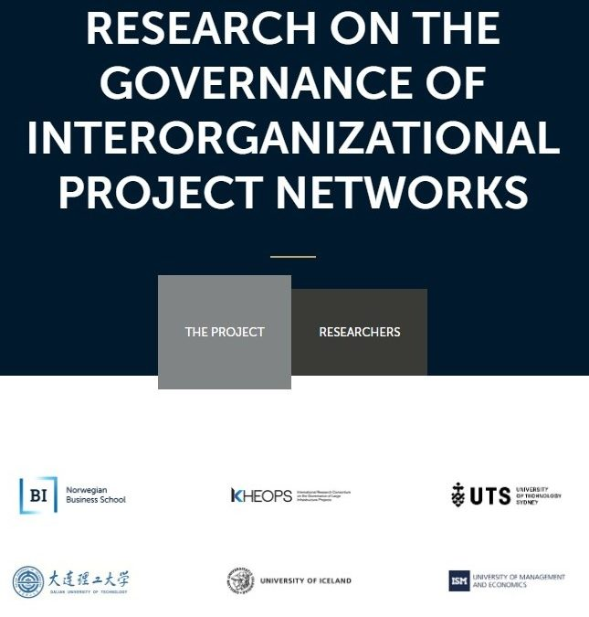 The research project on The Governance of Interorganizational Project Networks has a new webpage