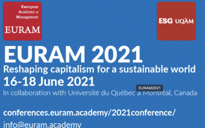 """EURAM 2021 """"Reshaping capitalism for a sustainable world."""""""
