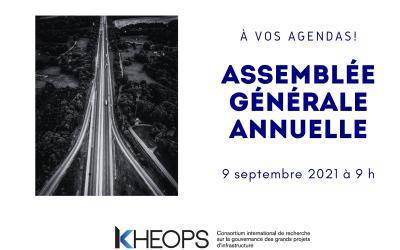 Invitation à l'AGA en ligne de KHEOPS